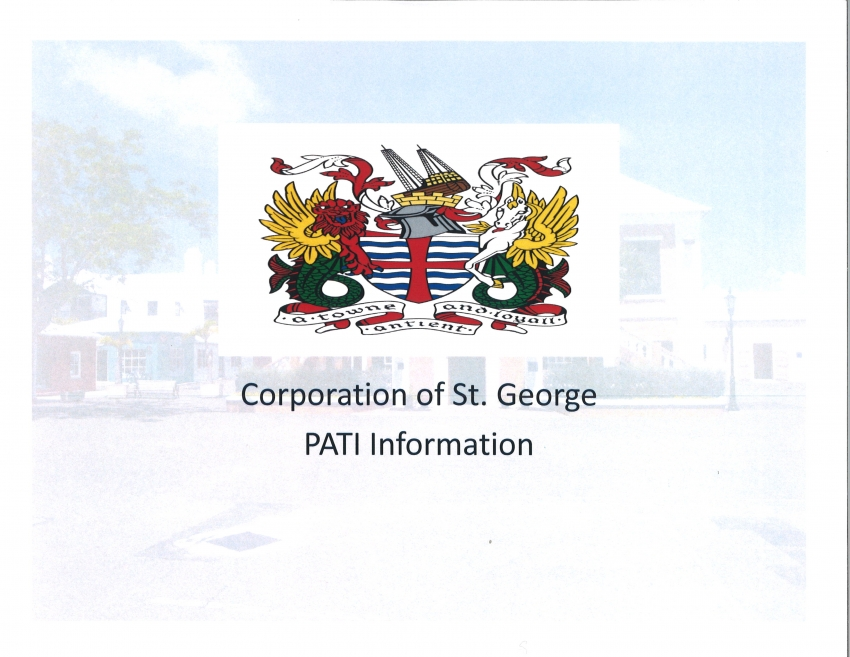CORPORATION OF ST. GEORGE PATI INFORMATION