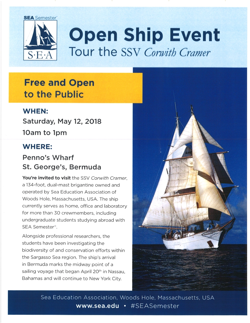 OPEN SHIP EVENT - TOUR THE SSV CORWITH CRAMER